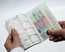 Віза та штампи в паспорті