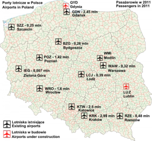 Список аеропортів Польщі