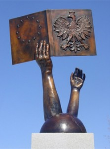 Пам'ятник книзі, м. Леско