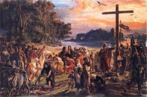Хрещення Польщі (966), Ян Матейко